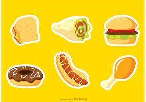 Fast Food Aufkleber Vektoren