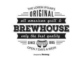 Brewhouse Griil Logo Vorlage vektor
