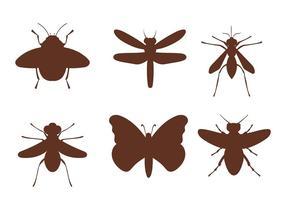 Freie Vektor Insekten