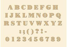 Didone Schriftart vektor