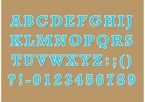 Serif Retro Typ Vector