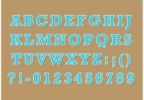Serif Retro Typ Vektor