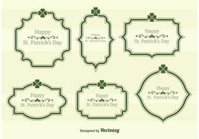St Patrick's Day Vector Text Frames