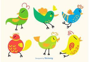 Vektor fåglar tecknad film