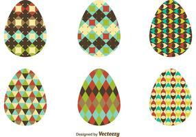 Muster Texturierte Osterei Vektoren