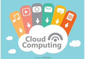 Cloud computing koncept design vektor
