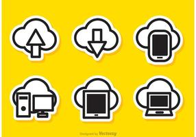 Enkel Cloud Computing Vectors