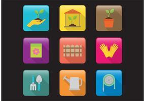 Gartenarbeit Vektor Icons