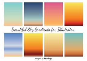 Vektor himmel gradienter