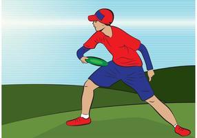 Frisbee Mann Vektor