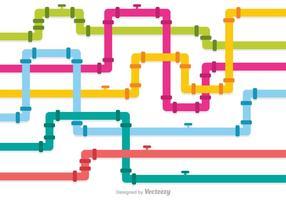 Mehrfarbige Kanal-Pipeline-Vektoren