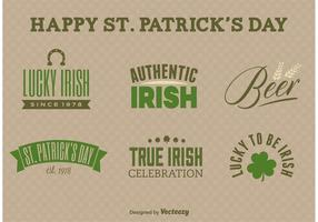 St Patrick's Day Label Vectors