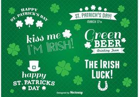 St. Patricks Day Label Vektoren