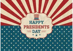 Fri Happy Presidents Day Retro Vector Poster