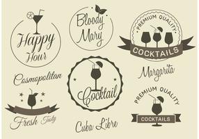 Gratis Vector Cocktail Etiketter
