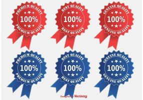 Premium Quality Ribbon / Badge Set vektor