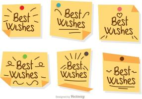 Beste Wünsche Notizen Vektoren