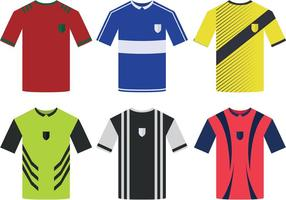 Fußball-Sport-Jersey-Vektoren vektor