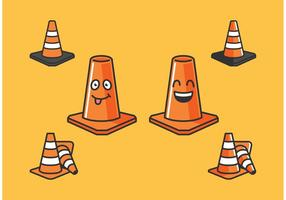 Orange Cone Vectors Ikoner Gratis