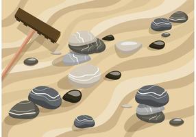 Zen Garten Sand Vektor