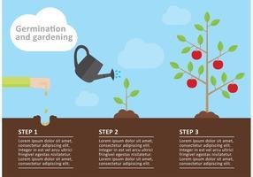 Trädgårdsinfografisk vektor