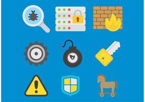 Computer-Sicherheit Vector Icons