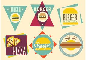 Free vector fast food designs