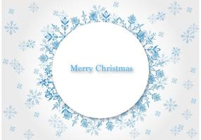 Jul Snowflake Vector Bakgrund