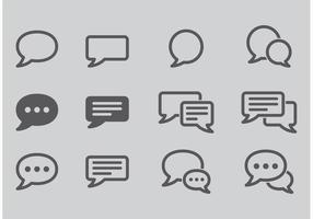 Live Chat Vector Ikoner