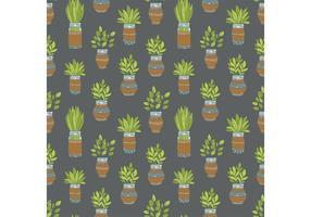 Freie Mason Jar Pflanze Vektor Muster