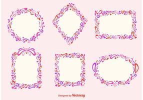 Romantiska ramar vektor