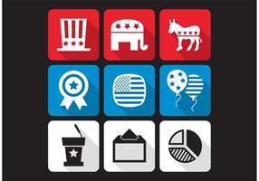 Amerikanische Wahlen Vector Icons