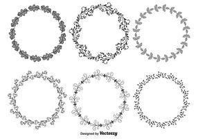 Handdragen dekorativa ramar vektor