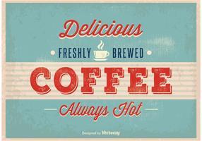 Weinlese-Kaffee-Plakat