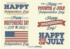 Självständighetsdag etiketter