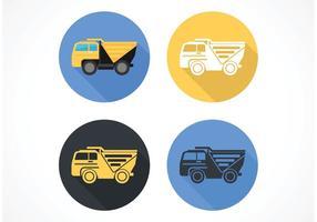 Gratis Flat Dump Truck Vector Icon