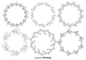 Dekorativa blomramar vektor
