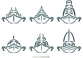 Symmetrische Kreuzfahrtschiffe Schiffsvektoren vektor