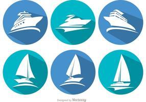 Långa skuggskeppsvektorer