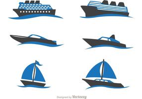 Schiff in Wellenvektoren vektor