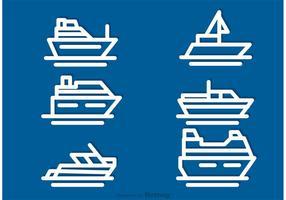 Ship Outline Ikonvektorer