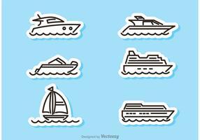 Schiff und Boot Aufkleber Vektoren