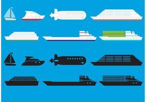 Schiffe Vector Icons