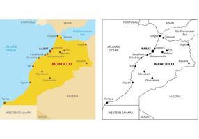 Marocko Karta Vector