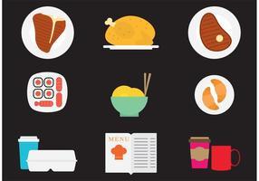 Middag vektor ikoner