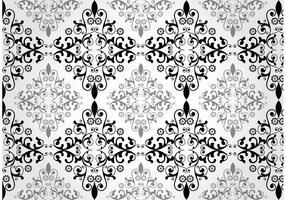 Blumen-Damast-Vektor-Muster vektor