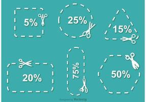 Einfacher Scissor Discount Coupon Vektor