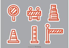 Orange Straßenverkehrsvektoren vektor