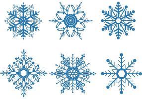Snöflinga vektor uppsättning