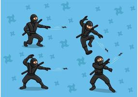 Ninja werfende Sternvektoren vektor